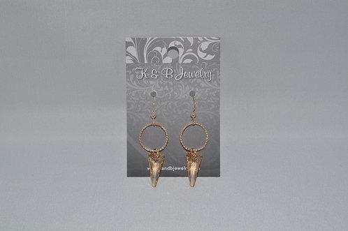 Golden Shadow Spike & Circle Earrings  ESB005-GF