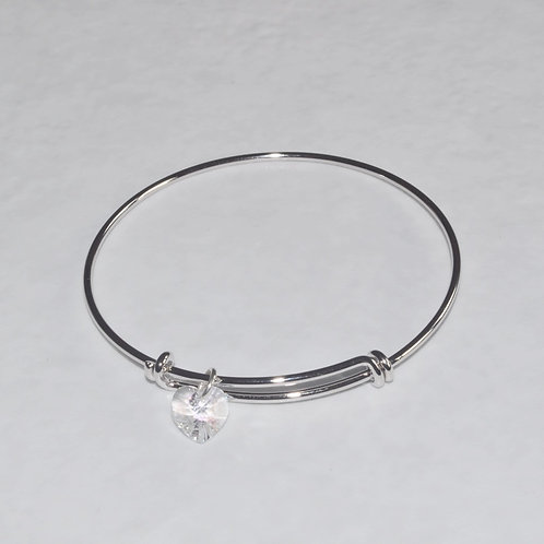 Silver Expandable Bracelet - B080-SS