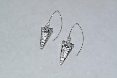 Silver Patina Spike Earrings  EM050-SS