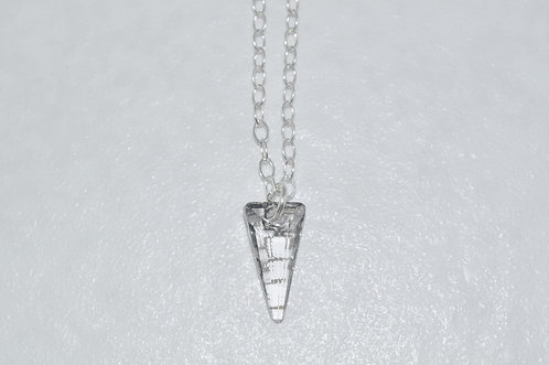 Silver Patina Spike Necklace NS096-SS