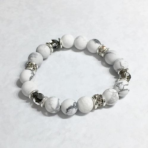Howlite Stretch Bracelet B296-SS
