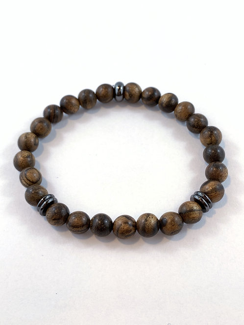 Men's Tiger Skin Sandlewood Stretch Bracelet B351-SS