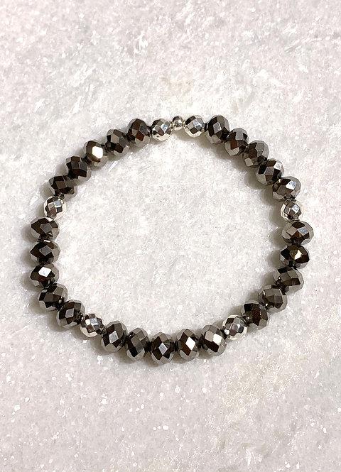 Silver Shimmer Stretch Bracelet B389-SS