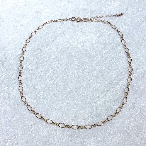 RG Long + Short Chain Choker Necklace NS033-RG