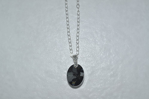 Swarovski Xilion Oval Necklace   NS055-SS