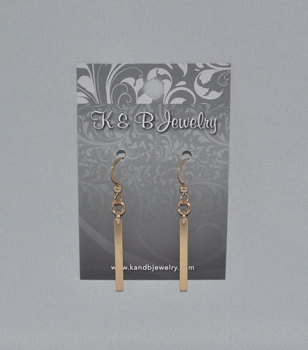 Gold Bar Earrings  ESB008-GF