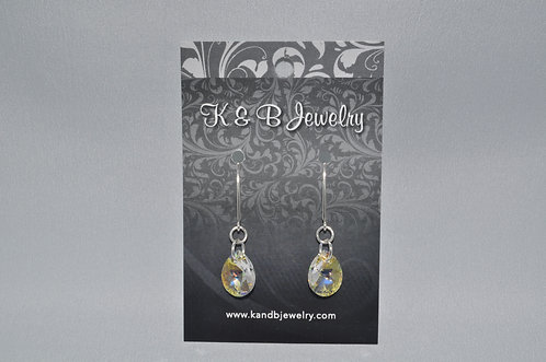 Aurora Borealis Pear Earring  EM019-SS