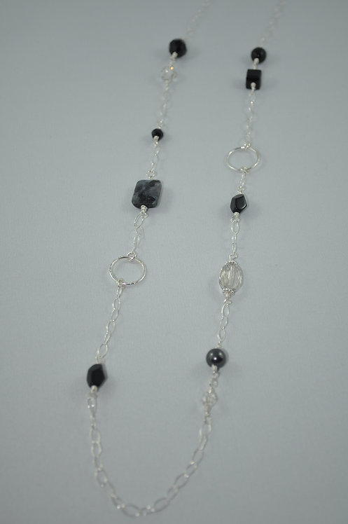 Labradorite Necklace  NL031-SS