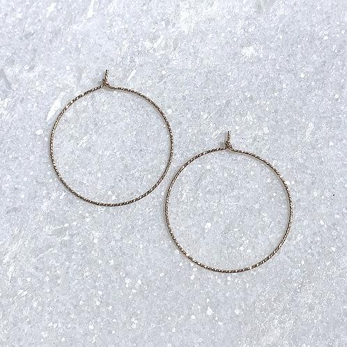 GF Sparkle Hoop Earrings EST053-GF