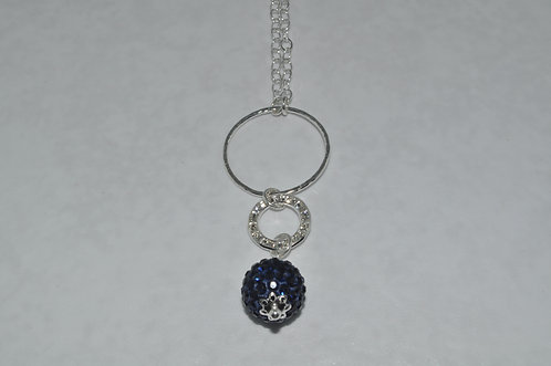 Montana Crystal Pave' Ball &  Circle Necklace   NL025-SS