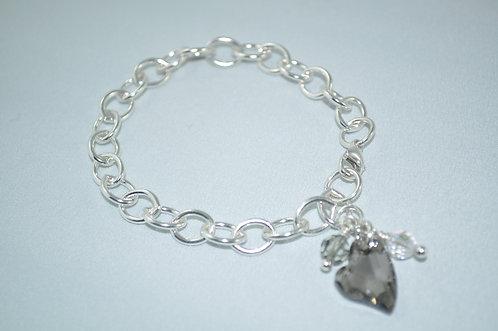 Ashlyn Chain Heart Bracelet   B027-SS