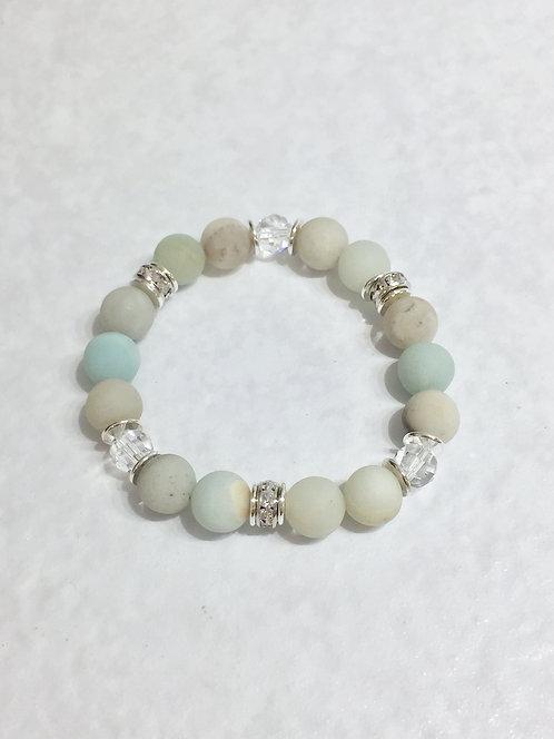 Amazonite Stretch Bracelet (10mm) B281-SS