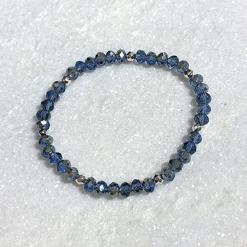 Blue Shimmer Stretch Bracelet B383-SS