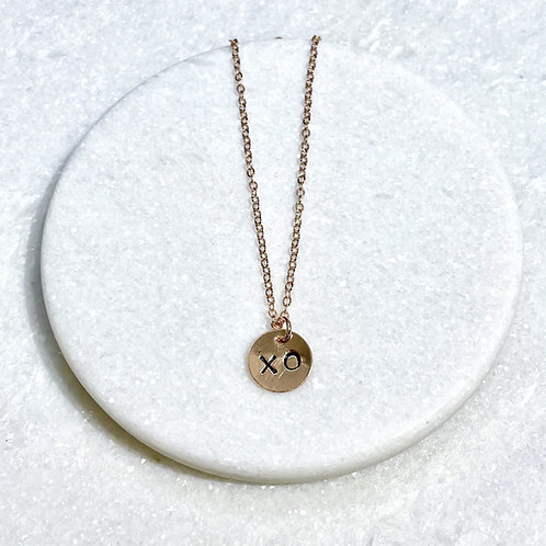 Rose Gold XO Necklace NS042-RG