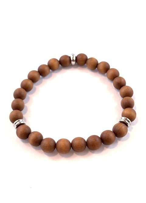 Men's Brown Sandlewood Stretch Bracelet B357-SS