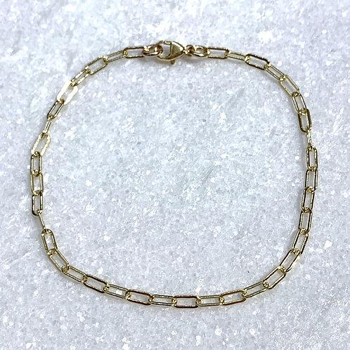 GF Paperclip Chain Bracelet B155-GF