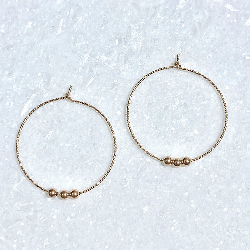 RG Sparkle Hoops/ RG Beads E071-RG
