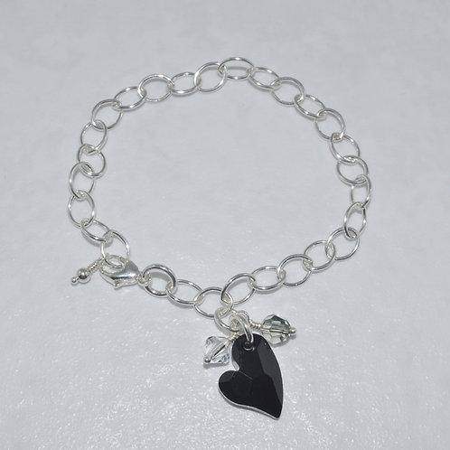 Ashlyn Chain Heart Bracelet   B034-SS