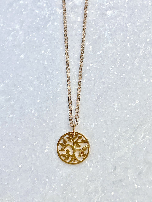 Rose Gold Family Tree Necklace NS026-RG