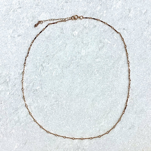 RG Dapped Bar Necklace NS039-RG80