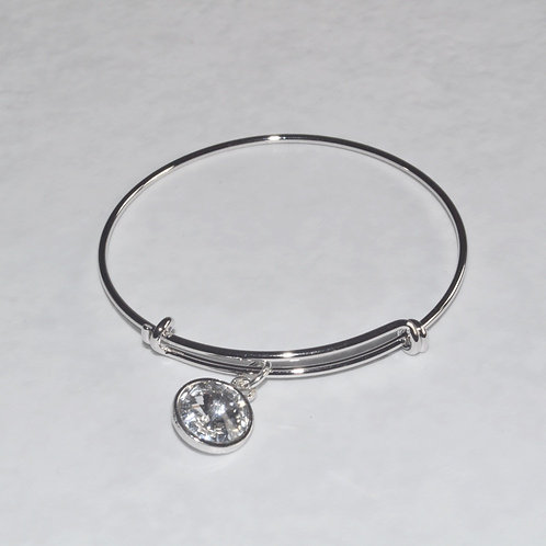 Silver Expandable Bracelet - B087-SS