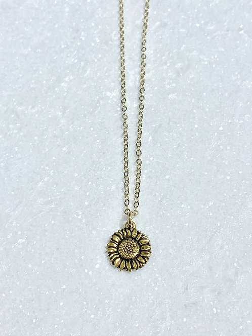 Sunflower Necklace NS046-GF