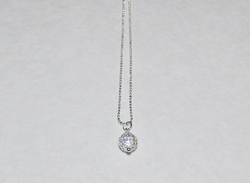 Aurora Borealis Pave' Ball Necklace  NS079-SS