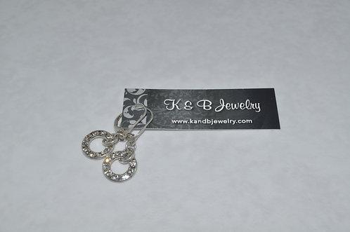 Crystal Circle Earrings  ELB003-SS