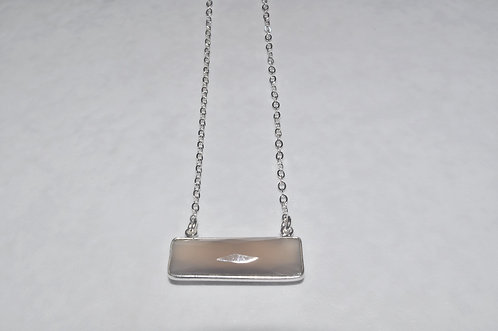 Chalcedony Rectangle Necklace NS100-SS