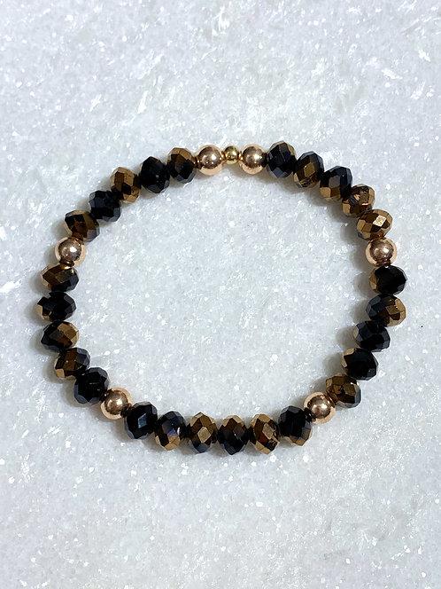 Red Copper/Bk Shimmer Bracelet B103-RG