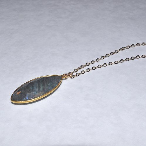 Labradorite Marquis Necklace NL016-GF