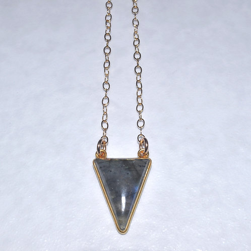 Labradorite Triangle Necklace NS018-GF
