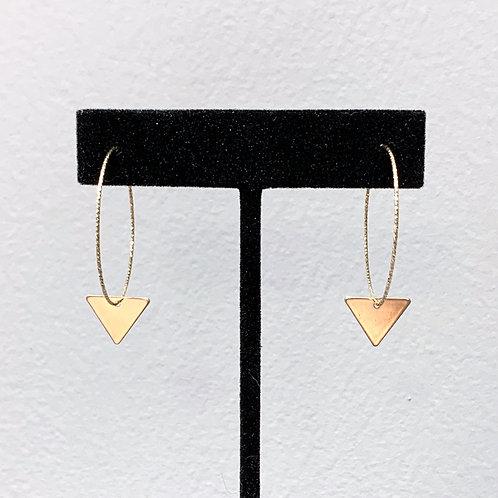 GF Sparkle Hoops/Triangle Dangle EST056-GF