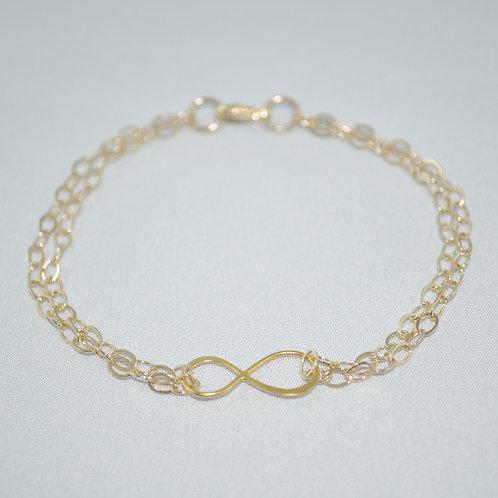 Gold Infinity Chain Bracelet   B008-GF
