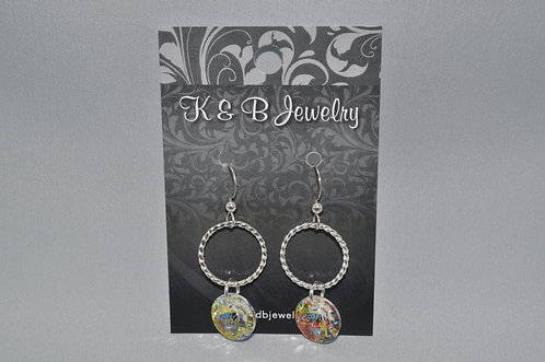 Aurora Borealis / Twisted Wire Earrings ESB008-SS
