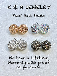 Pave' Ball Studs