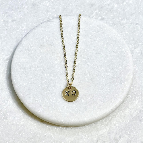 Gold Filled XO Necklace NS061-GF
