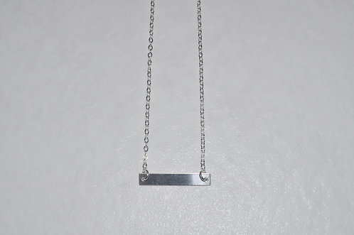 Rectangle Bar Necklace (Large)  NS107-SS