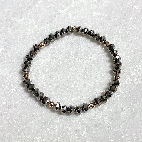 Silver Shimmer Stretch Bracelet B384-SS