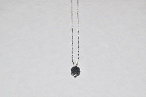 Black Crystal Pave' Ball Necklace  NS080-SS