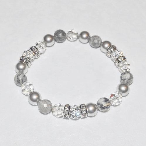 Triple Pave' Ball Stretch Bracelets B188-SS
