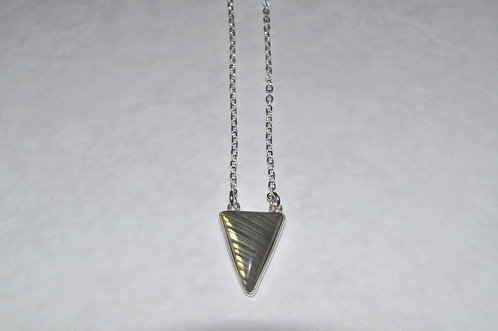 Labradorite Triangle Necklace NS105-SS
