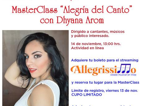 "MasterClass ""Alegría del canto"" con Dhyana Arom"