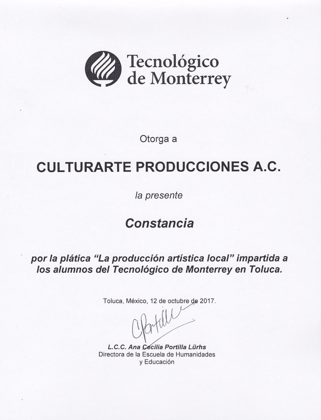 Charla sobre Producción