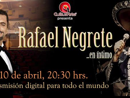 Rafael Negrete en íntimo, un concierto de México para el mundo