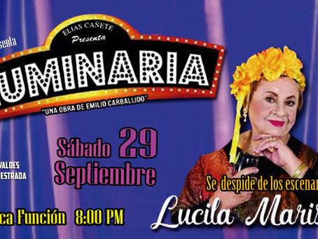"""Lucila Mariscal se despide de los escenarios con la obra de teatro """"Luminaria"""""""
