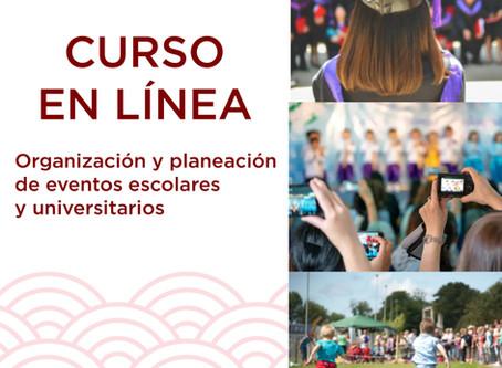 Curso para la organización y planeación de eventos escolares y universitarios