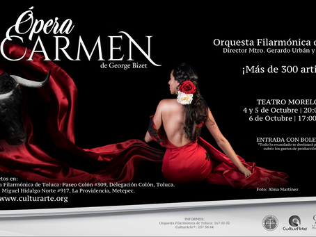 Preventa ÓPERA CARMEN con la Orquesta Filarmónica de Toluca.