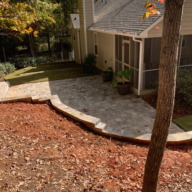 Finished patio project