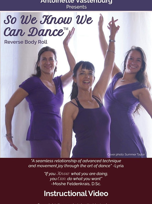 So We Know We Can Dance ™ Reverse Body Roll (DVD) Free shipping!